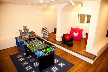 Self-catering luxury games rooms