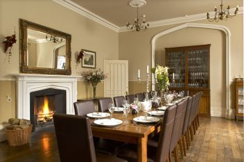 Stunning dining room in luxury self-catering party house